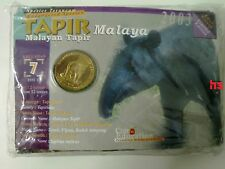 Malaysia Endangered Animals Coin no.7  Coin Card BU Tapir 1pc