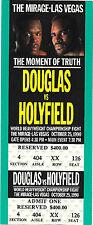 EVANDER HOLYFIELD vs. BUSTER DOUGLAS FULL UNUSED TICKET 10/25/1990 Mirage LV