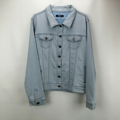 Collection Here Kelly By Clinton Kelly Denim Jacket Bleached Indigo Xl A305893 Latest Technology
