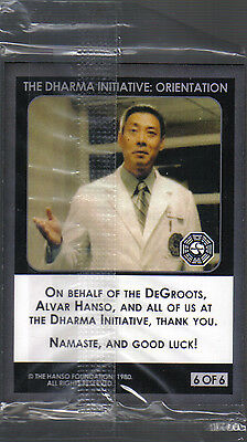 LOST: THE DHARMA INITIATIVE SET OF 6 PROMO CARDS (unsealed)