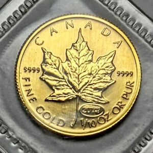 1999 CANADA 1/10 GOLD MAPLE LEAF ~ 20th ANNIVERSARY PRIVY MARK ~ ORIG PACKAGE