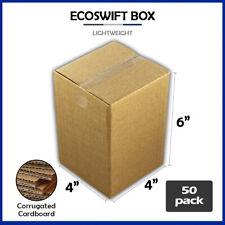 50 4x4x6 Ecoswift Brand Cardboard Box Packing Mailing Shipping Corrugated