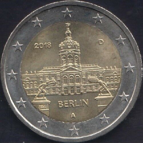 "GERMANY 2 euro 2018 /""BERLIN/"" UNC BIMETALLIC"
