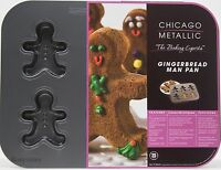 Christmas Chicago Metallic Gingerbread Man 6 Cavity Cake Pan