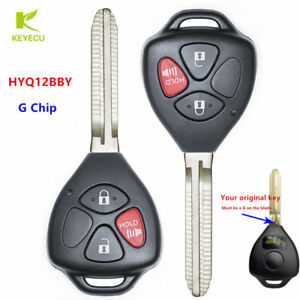 remote key head fob 3 button with g chip for toyota 4runner rav4