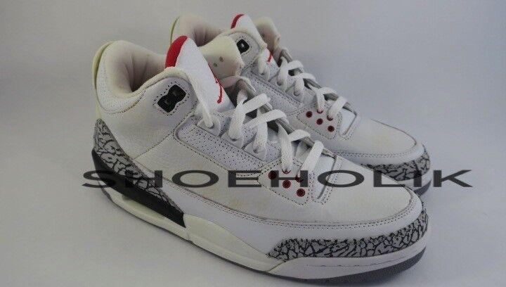 Brand New 2003 Jordan Retro III 3 White Cement - Size 9 136064-102