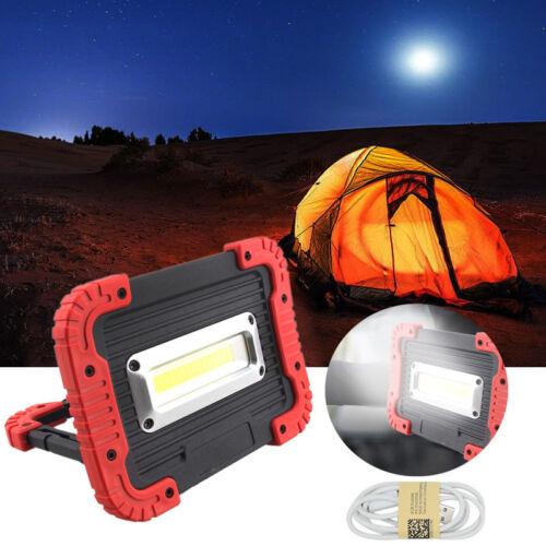 30 W chip-on-board DEL USB Rechargeable sans fil travail flood light Fishing Lamp Power Bank