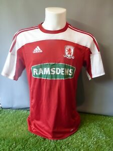 premium selection 86f30 bedd3 Image is loading Middlesbrough-Football-Shirt-Home-Adult-M-Adidas-11-
