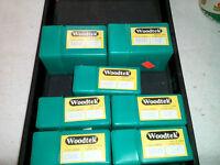 Lot Of 7 Woodtek Router Bits 820088 1/2 Shank& 820046 1/4 Shank
