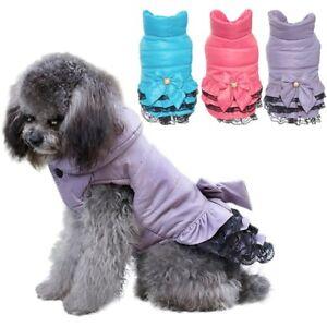 Small-Pet-Dog-Bowknot-Warm-Padded-Dress-Winter-Puppy-Cat-Cotton-Coat-Costume