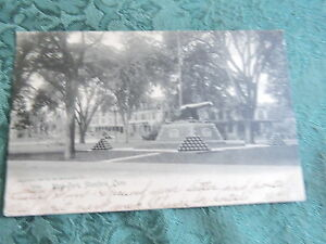 1905-10 West Park Cannon memorial Stamford Connecticut CT Post Card