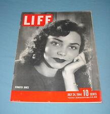 LIFE MAGAZINE JULY 24 1944 JENNIFER JONES HENRY FORD CHARLES DEGAULLE TOM DEWEY