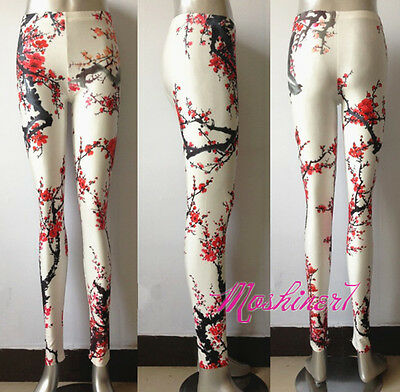 2013 New Women's Plum Blossom Digital Printing Leggings Elastic Pants Wholesale!