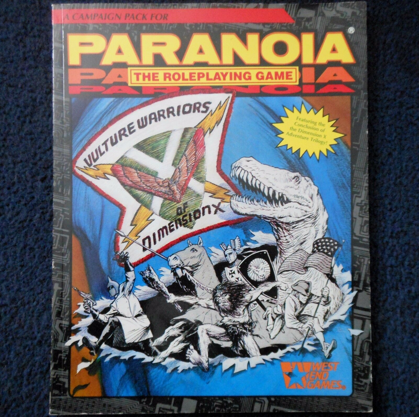 1990 Vulture Warriors of Dimension X Paranoia Module West End Games RPG 12019