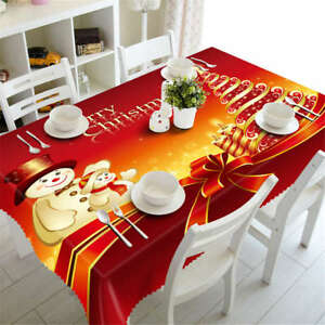 Red-Christmas-3D-Tablecloth-Table-cover-Cloth-Rectangle-Wedding-Party-Banquet
