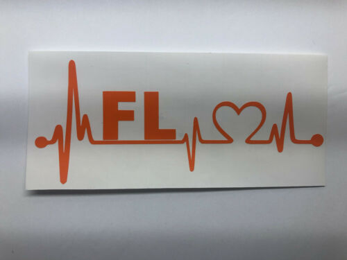 "TRUCK, /"" FLORIDA HOME STATE HEARTBEAT LIFELINE/"" VINYL DECAL STICKER CAR"