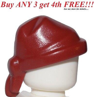 ☀️NEW Lego Pirate Minifig DARK RED RAG HAT Star Wars Head Gear Wrap Bandana Cap