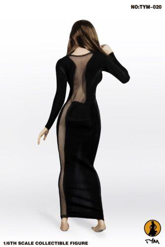 Black Dress Model TYM-20 Long Skirt Suit For 1//6 Scale Female Action Figure