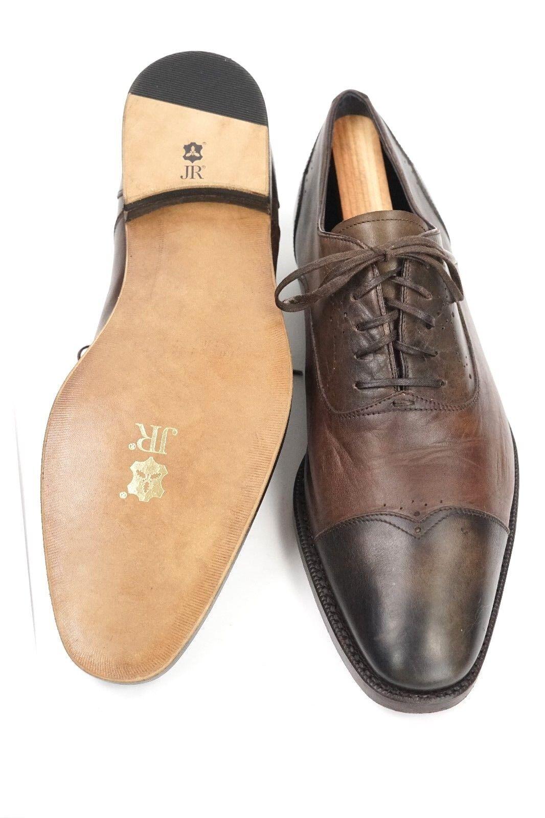 695 Ermenegildo Zegna Mens Restored   Resoled Leather Cap Toe shoes US Size 8M