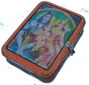 Boite-Metal-Recycle-Shiva-Family-Kitsch-Bollywood-17x13x5cm-Inde-303