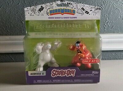 "Scooby-Doo série 5 Snow Ghost /& Clown Ghost Hero World Funko 3/"" figures Target"