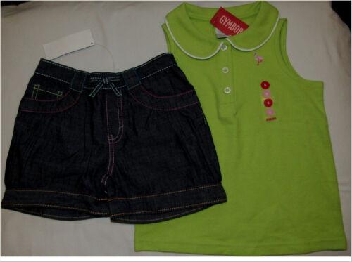 Gymboree Palm Springs flamingo summer top /& chambray denim shorts NWT 6