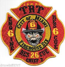 "Miami  Station-6, FL  ""TRT - Firehouse Six"" (4.25"" x 4.25"") fire patch"