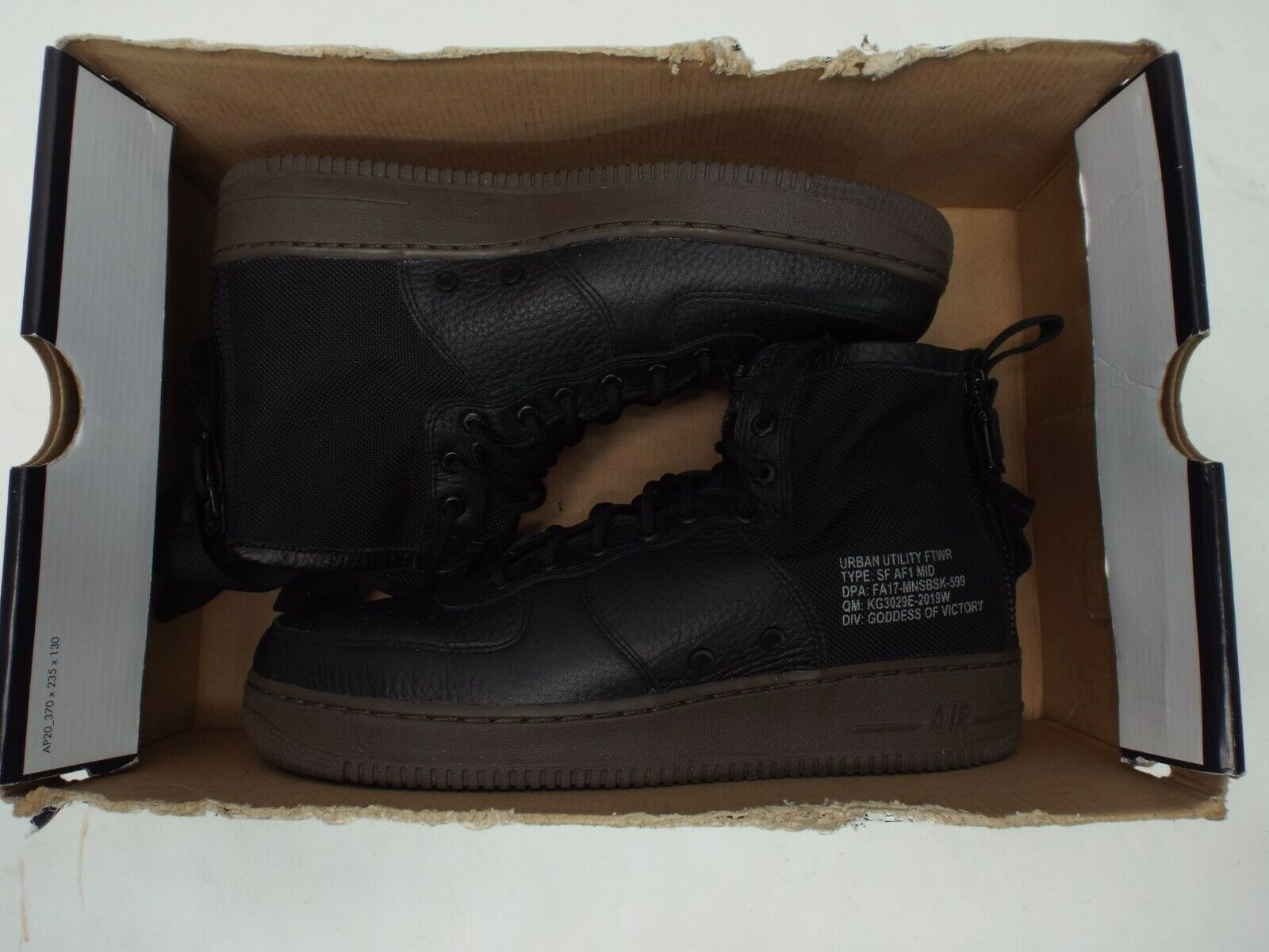 New Mens Mens Mens 10.5 NIKE SF AF1 Mid Military Boots Black Hazel shoes  160 917753-002 da7503