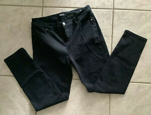 Buffalo David Bitton Royal womens sz 12 / 32 Skinny Jeans Mid Rise Stretch Black
