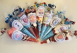 Pre Filled Boys /& Girls Sweet Cone Football Party X10 Birthday Celebration