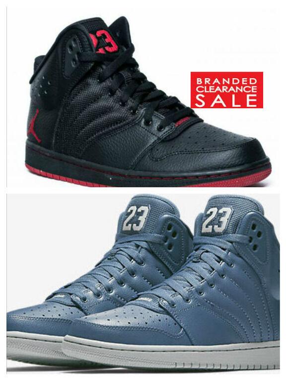 NUOVO Uomo Nike Jordan 1 Flight 4 Prem Premium Nero Nebbia Blu Taglia 8 9 10 UK