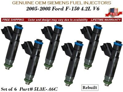 6X Genuine Siemens Fuel Injectors for Ford F-150 4.2L Ford Mustang 3.8L