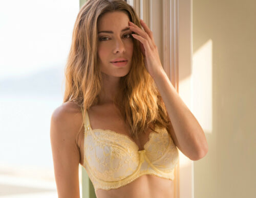 Brand New......Pour Moi Amour 1502 Underwired Bra Lemon Zest 30-44 D to J Cup