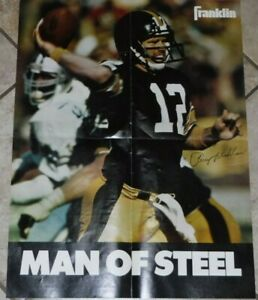 RARE-VINTAGE-STEELERS-TERRY-BRADSHAW-POSTER-FRANKLIN-FOOTBALL-POSTER