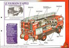 Fire engine Fourgon Appui Engins-Pompes Brigade Paris FICHE Pompier FIREFIGHTER
