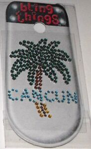 Cancun-Mexico-Palm-Tree-Crystal-Cell-Phone-BLING-THING-Sticker-Decal-BBS063
