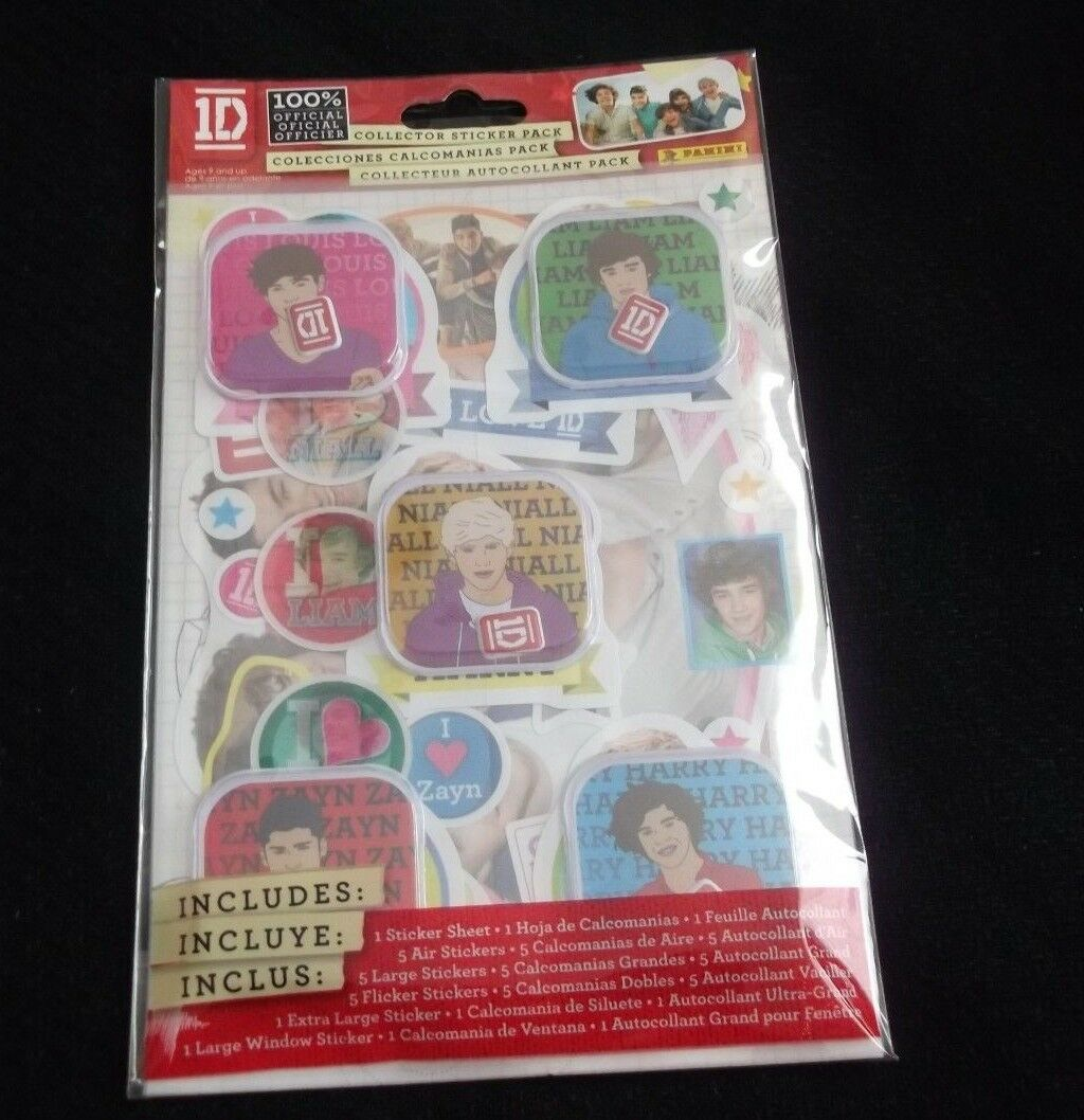 1D NIP ONE DIRECTION Collector Sticker Pack by Panini