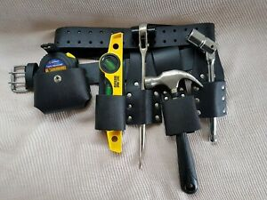 scaffolding-100-LEATHER-BELT-WITH-4-PCS-FULL-TOOLS-SET-Hammer-Holder