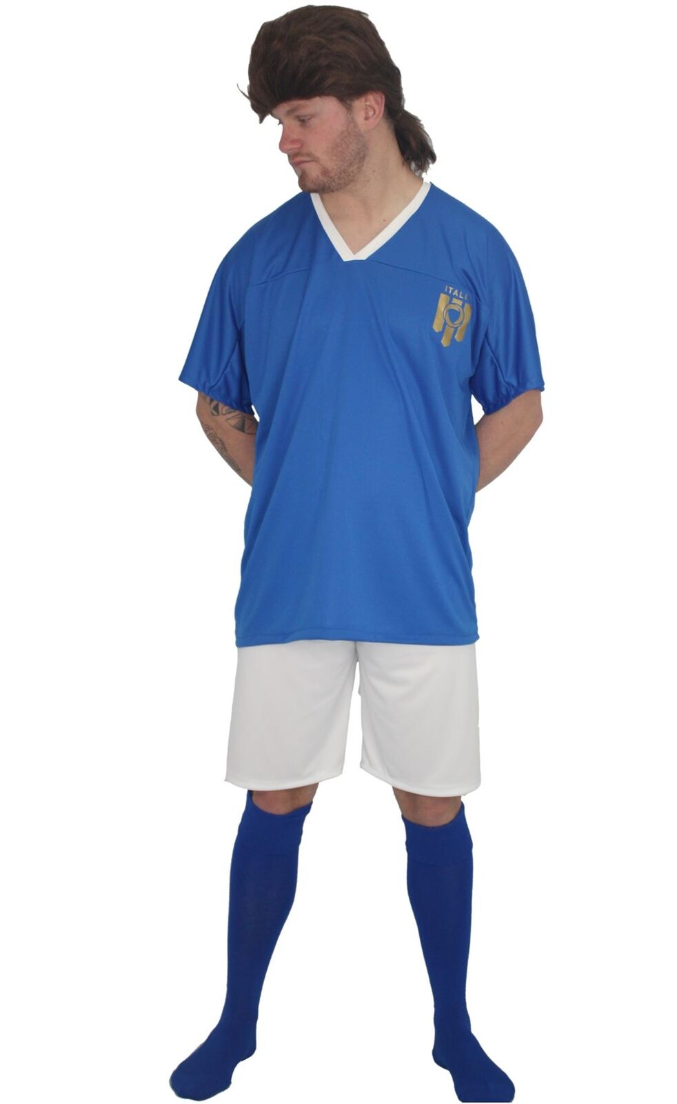 Adults  Football Icon Roberto Baggio Baggio Baggio Kit Fancy Dress & Wig | Elegantes Aussehen  | Charakteristisch  | Genial  442e5b