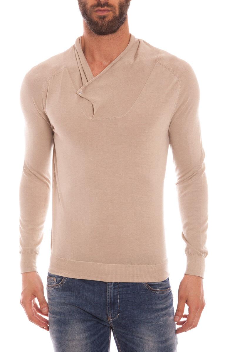 Maglia Daniele Alessandrini Sweater Cotone  Herren Beige FM57116U3500 15