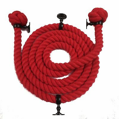 Length and Raccords Wine Red polyspun Bannister Rope-Choose Diameter