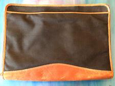 Large Day Timers Black Zippered Planner Portfolio Briefcase Cowhide Canvas Vtg