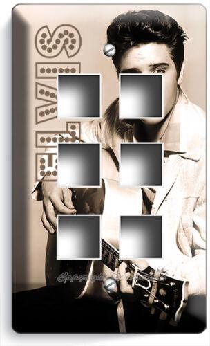 HANDSOME ELVIS PRESLEY PLAY GUITAR LIGHT SWITCH PLATE OUTLET ROOM HOME ART DECOR