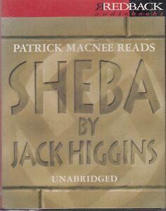 Jack-Higgins-Sheba-4-Cassette-Audio-Book-Unabridged-Thriller-Patrick-Macnee