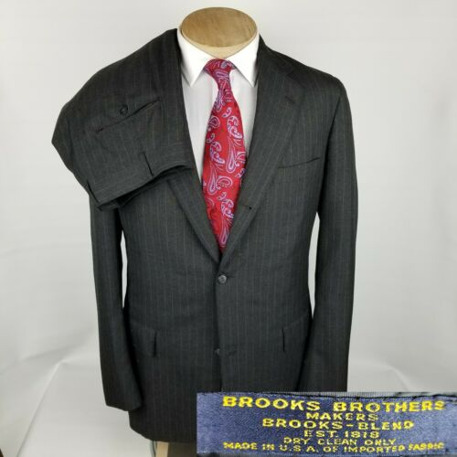 Brooks Brothers Vintage Mens Sack Suit 42XL Gray P