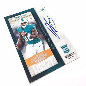 Panini NFL Dion Sims Rookie Auto Card Miami Dolphins Football Signed Autograph