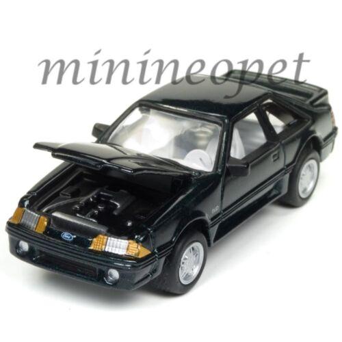 JOHNNY LIGHTNING JLCG010 24B 1990 FORD MUSTANG GT 1//64 DIECAST MODEL CAR GREEN