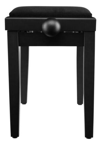 Super Pianositzbank Klavierbank Höhenverstellbar in hübscher Schwarz Matt Optik