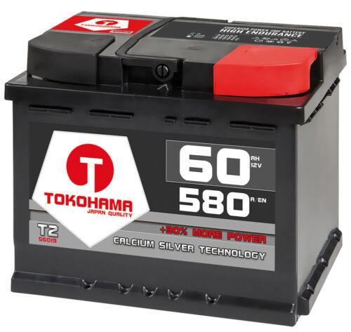 Autobatterie 60Ah 30/% mehr Leistung Calcium Technologie ersetzt 55Ah 62Ah 63Ah