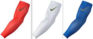 NIKE PRO YOUTH DRI-FIT VAPOR JET SHIVERS FOOTBALL (1 PAIR) RED WHITE BLUE OSFM